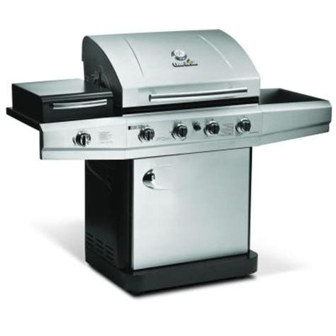 char broil 4 burner propane gas grill with outdoor stove