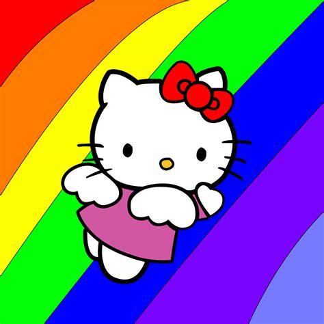 wallpaper hello kitty rainbow rainbow hello kitty my boyfriend wears flannel