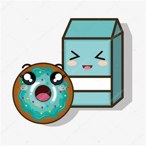 imagenes kawaii leche dibujos animados de kawaii de caja bu 241 uelo y leche