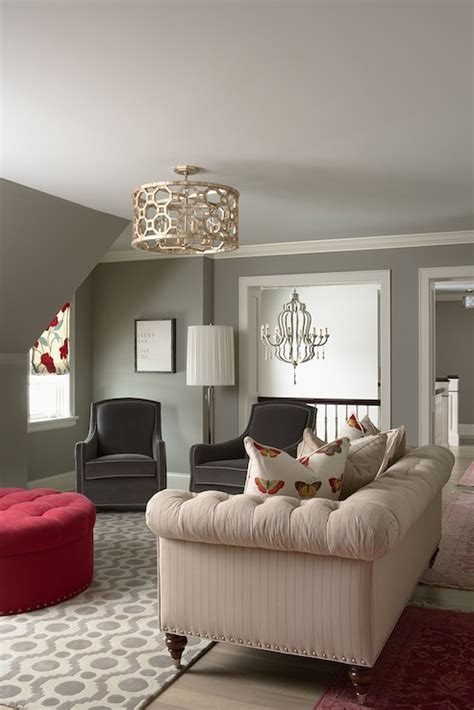 Gray Living Room Walls Grey Walls Contemporary Living Room Benjamin Moore