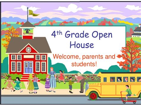 4th Grade Open House Open House Powerpoint Template
