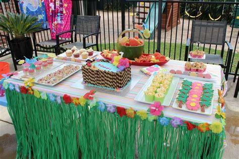hawaiian pool party birthday party ideas photo 1 of 9