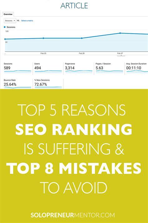 best website ranking top 5 reasons your seo website ranking is suffering top