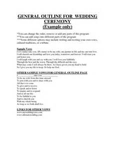 Typical Catholic Wedding Ceremony Outline by Simple Wedding Ceremony Outline Pictures To Pin On Pinsdaddy