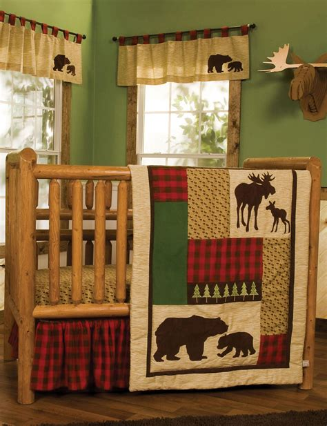 Northwoods Crib Bedding Trend Lab 6 Pc Northwoods Crib Bedding Set Stage Stores