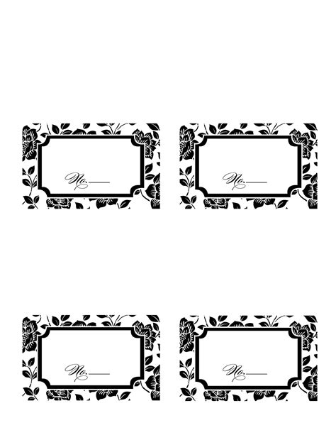 place cards template 9 best images of printable wedding place card templates