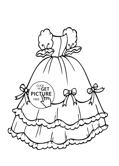 coloring pages of girl stuff dress with bows coloring page for girls printable free