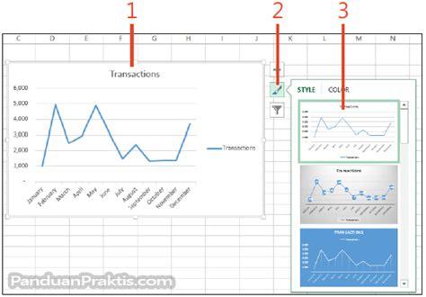 cara layout artikel cara mengubah layout dan style grafik chart di excel 2013