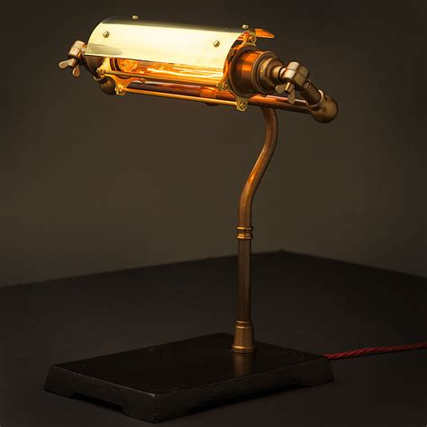 Nice Steampunk Lamps For Sale #2: Vintage-Brass-Steampunk-banker-lamp-shade.jpg