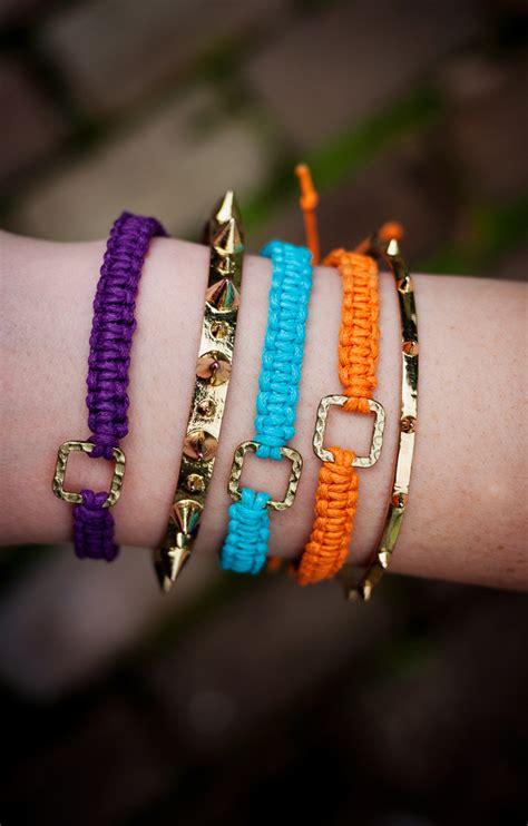 Make Macramé Cord Bracelet Patterns Home - buckled macrame friendship bracelet allfreejewelrymaking