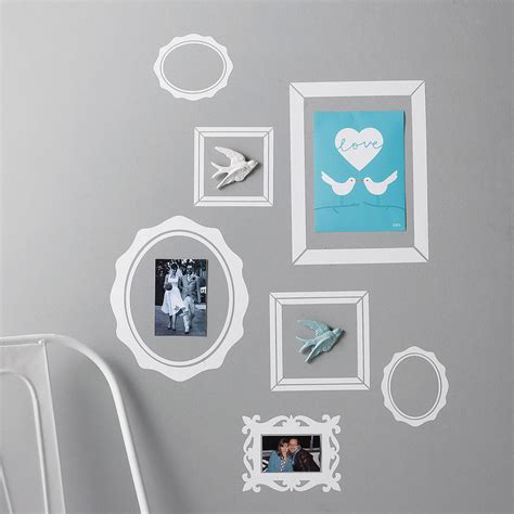 wall stickers frames pack of seven picture frame wall stickers by nutmeg notonthehighstreet