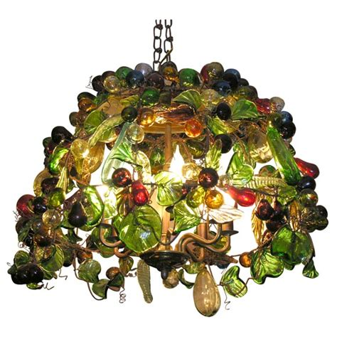 Murano Glass Fruit Chandelier Murano Glass Fruit Chandelier At 1stdibs