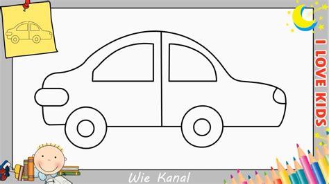 Auto Malen Mit Kindern by Wie Zeichnet Ein Auto Schritt F 252 R Schritt F 252 R Anf 228 Nger