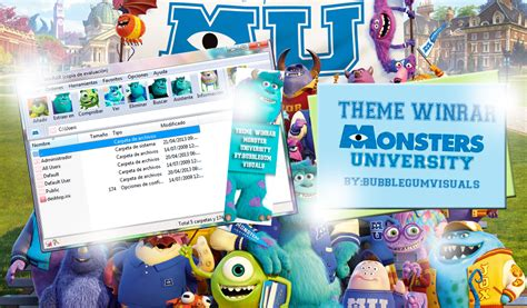 theme line monster university theme winrar monster university by bubblegumvisuals on
