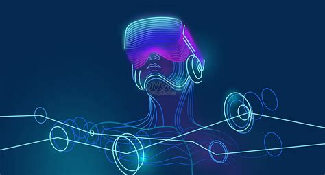 vr intelligent technology background creative image