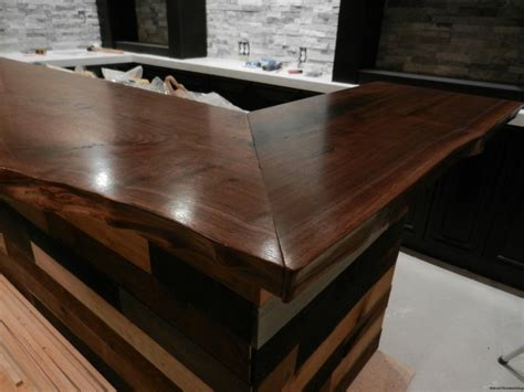 walnut bar top walnut bar top marvel woodworking in west chester pa custom