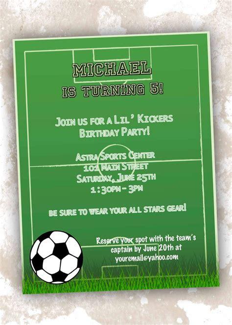 Free Printable Football Party Invitations For Boys Football Themed Invitation Template