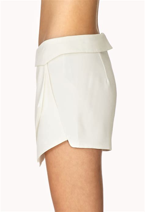 Forever 21 Must Origami Skort In White Lyst