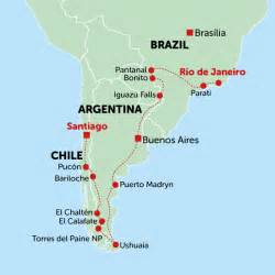 map of patagonia south america discover patagonia tour to chile argentina brazil overview