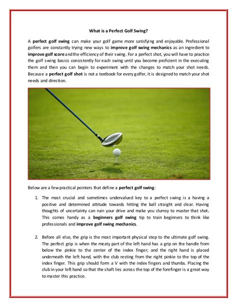 six steps to the perfect golf swing what is a perfect golf swing