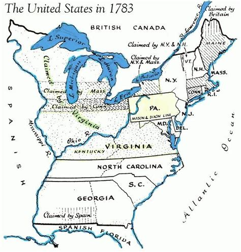 ancestry map usa map united states in 1783 american revolution