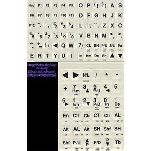 printing large letters on computer amazon com large print computer keyboard letters black