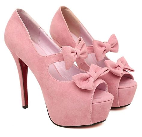 Flast Shoes Sepatu High Heels Wanita Stiletto Lc14 fashionable graceful bow tie hollow out fish high heeled platform shoes pink