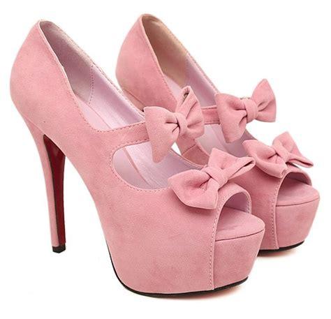 high heels black keren dt sepatu murah fashionable graceful bow tie hollow out fish high