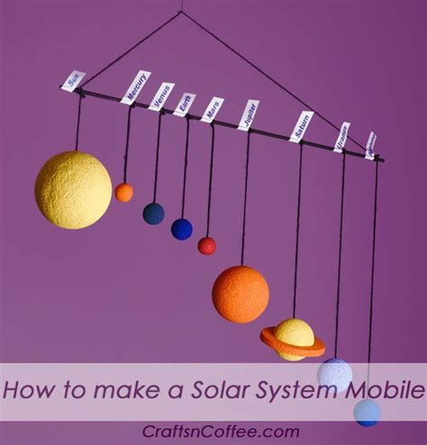 How To Make A Paper Mobile - one more way to make a model of the solar system always