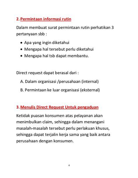 kuliah komunikasi bisnis direct request