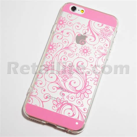 Iphone 6 Plus Soft Pink Pattern With Iring Luxury pink floral pattern iphone 6 iphone 6s soft
