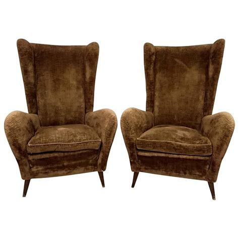 Wingback Armchairs For Sale by Pair Of Italian Wingback Armchairs For Sale At 1stdibs