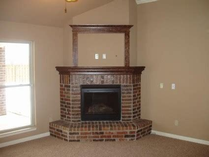 Corner Brick Fireplace by Small Brick Corner Fireplace Pinteres