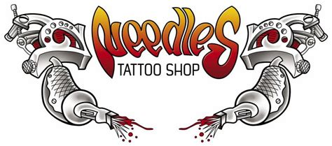 tattoo logo parlour needles tattoo shop needlestattoo twitter
