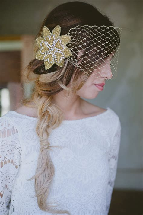 Handmade Wedding Veils - wedding hair accessories bridal veils handmade gold