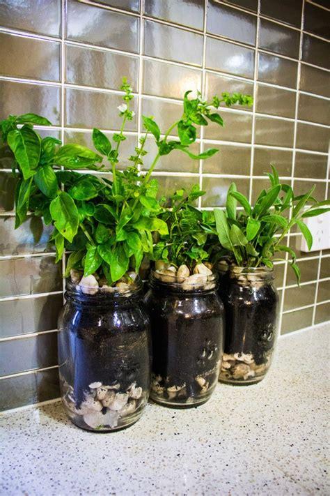 herb garden planters mason jar herb garden planter