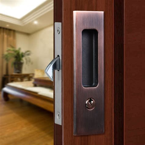 sliding door handle and lock invisible door lock sliding wood barn door locks door