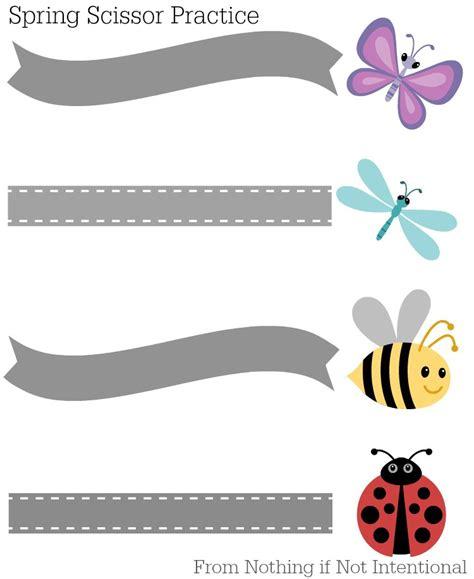 preschool scissor activities printable free printables spring themed scissor practice for preschool
