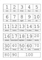 english teaching worksheets numbers 1 100
