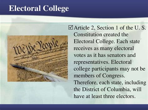 article 2 sections electoral college article 2 section