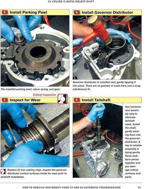 how to rebuild automatic transmission ford c4 and c6 automatic transmission how to rebuild