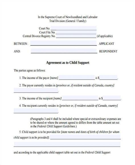 Exle Of Child Support Letter by Initial Child Custody Jurisdiction Divorce Form Child Support Agreement Letter Exle