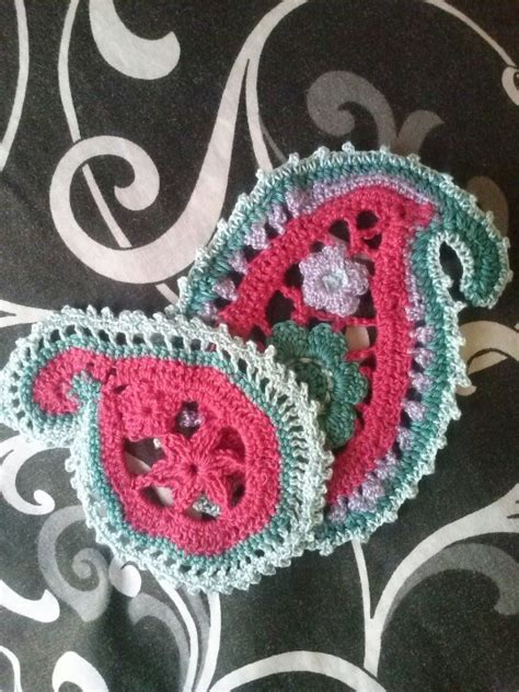 paisley pattern crochet motif crochet paisley pattern crochet irisch pinterest