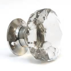 glass door knobs faceted glass turning mortice door knobs by pushka home notonthehighstreet