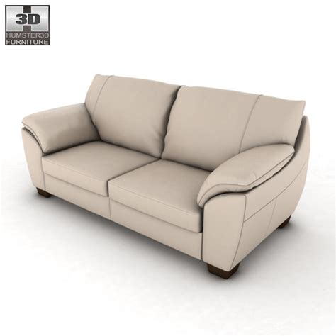 ikea vreta three seat sofa 3d model hum3d