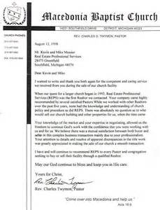 Pastor Cover Letter Sle by Reference Letter From Church Pastor Cover Letter Templates