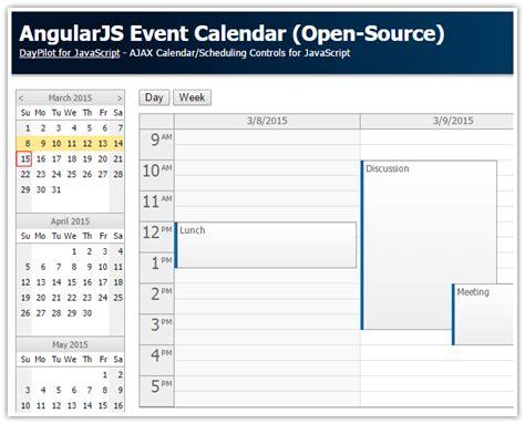 tutorials daypilot for asp net mvc calendar scheduler angularjs event calendar scheduler codeproject