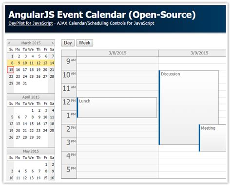 angularjs event calendarscheduler codeproject