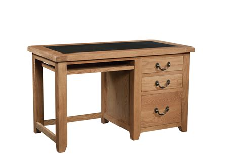 Office Desk Oak Wiltshire Rustic Oak Office Desk