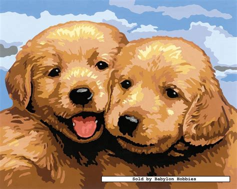 puppy painting painting by numbers puppies by ravensburger 284016